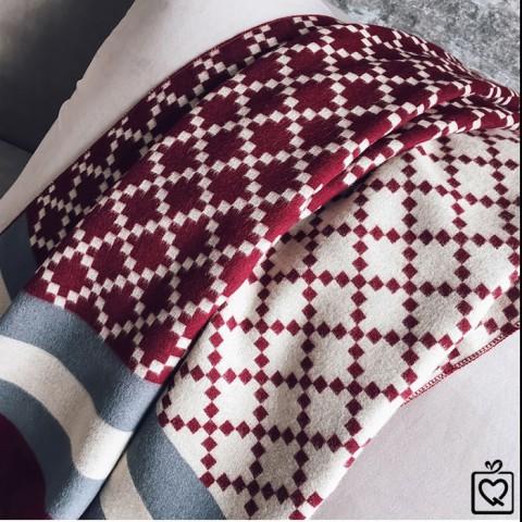 Khăn choàng cổ Cashmere hoạ tiết Diamond Patterns 190*65cm