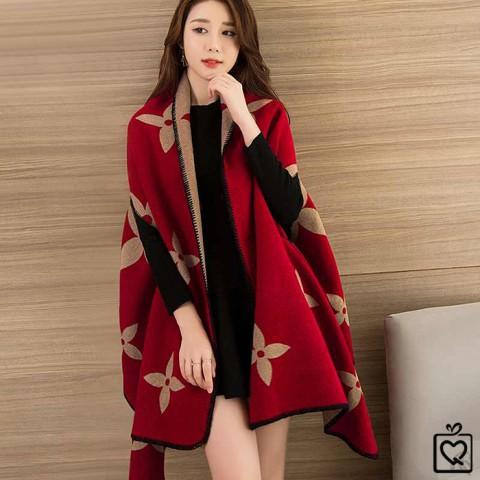 Khăn choàng kiêm áo khoác dạ len 185*65cm