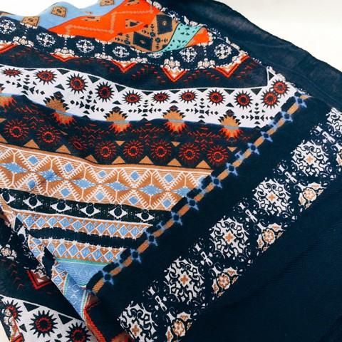 Khăn choàng vải lanh cao cấp 180*100CM- họa tiết dân tộc