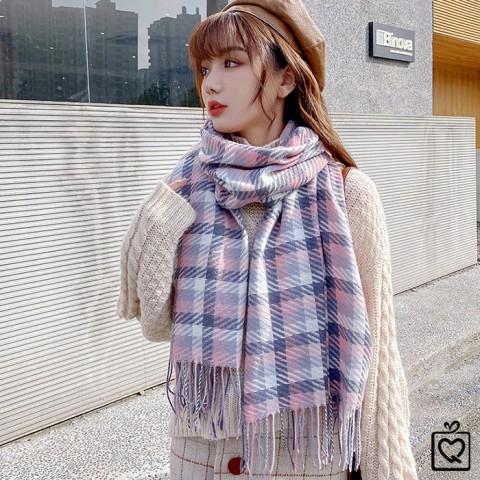 Khăn quàng cổ len Cashmere dệt phối màu 180*70cm
