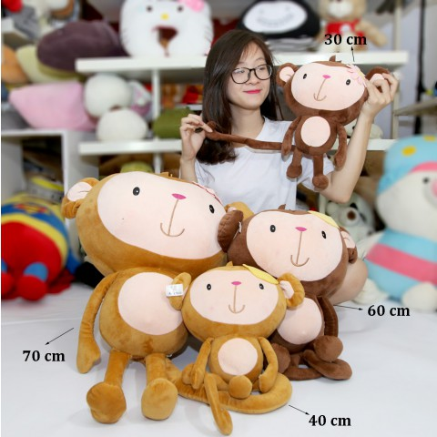Khỉ bông tay dài Yoyo Cici đội chuối -70cm