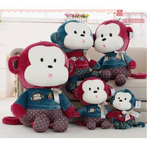 Khỉ bông mặc áo baby hồng