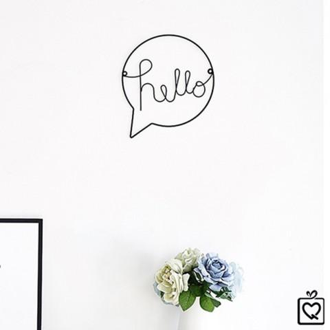 Khung sắt trang trí treo tường Hello