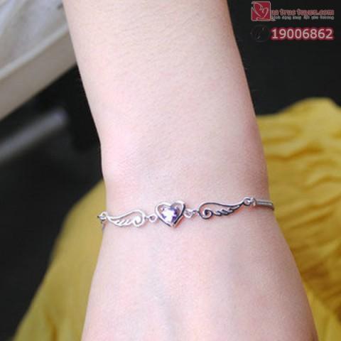 Lắc tay thiên sứ bạc
