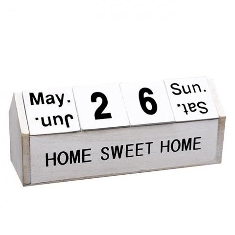 Lịch khối gỗ Bắc Âu Sweet Home để bàn