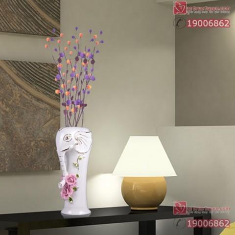Lọ hoa gốm sứ voi cát tường