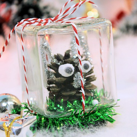 Lọ thủy tinh giáng sinh handmade - Người tuyết