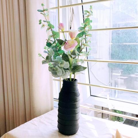 Lọ hoa gốm sứ dáng cao Bắc Âu retro