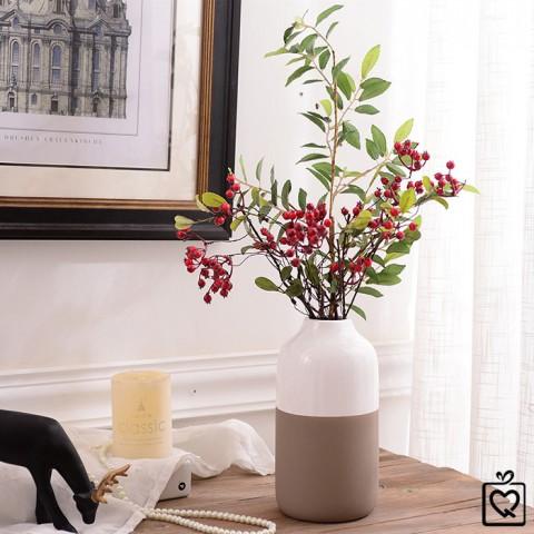 Lọ hoa gốm sứ phong cách Bắc Âu dáng bầu cao