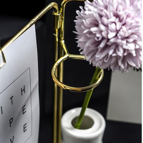 Lọ hoa khung sắt treo thông điệp hình quyển sách