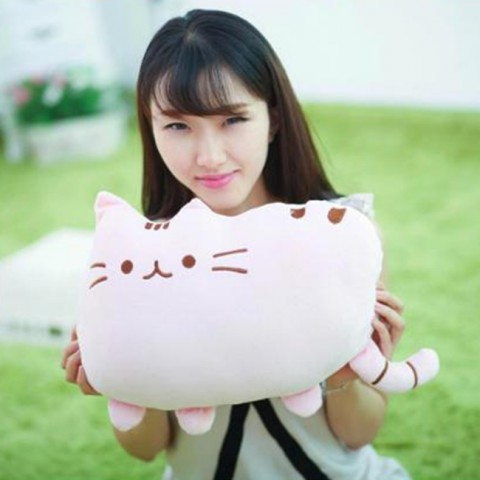 Mèo bông Pusheen - hồng 40cm