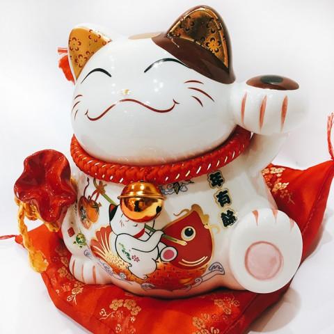 Mèo thần tài - Niên niên hữu dư 9079 - 17cm
