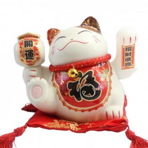 Mèo vẫy tay cầm búa khai vận 901 - 18cm