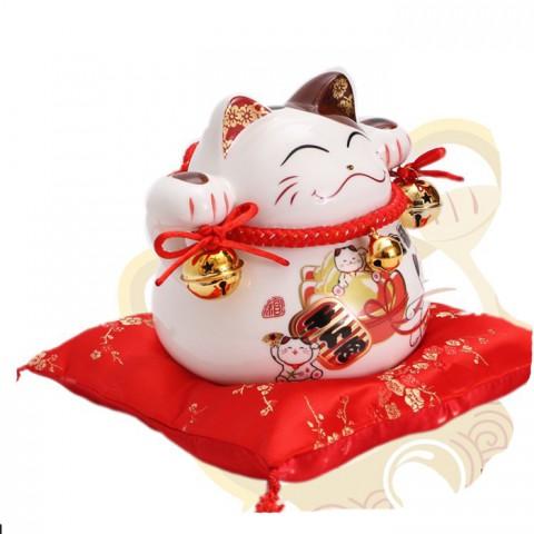 Mèo thần tài-Kim phúc lâm môn 7019-14cm
