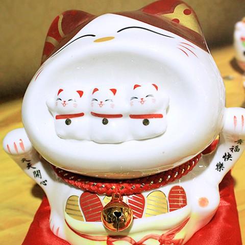 Mèo Thần Tài - Phúc Lộc Phú Quý 12cm