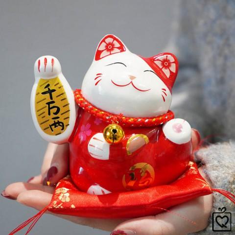 Mèo thần tài Tài Lộc - 10cm