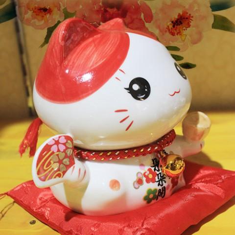 Mèo Thần Tài - Tấn Tài Tấn Lộc 7002 - 12cm