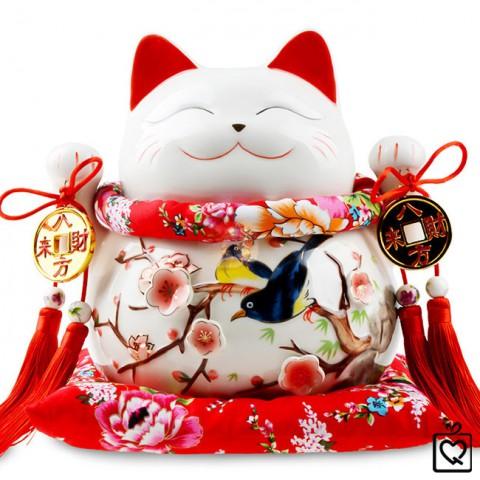 Mèo Thần Tài giơ 2 tay - Vinh Hoa Phú Quý 9004 - 25cm