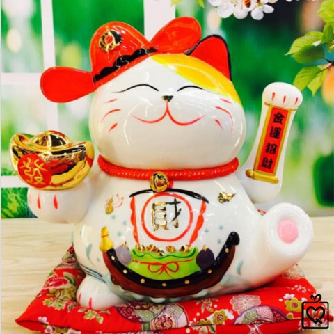 Mèo vẫy tay - Lộc Tiến Vinh Hoa 9003 - 24cm