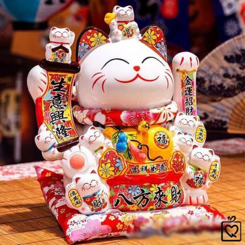 Mèo vẫy tay Niên Niên Phú Quý 0852 - 29cm