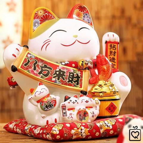 Mèo vẫy tay Phú Quý Vô Biên - 28cm