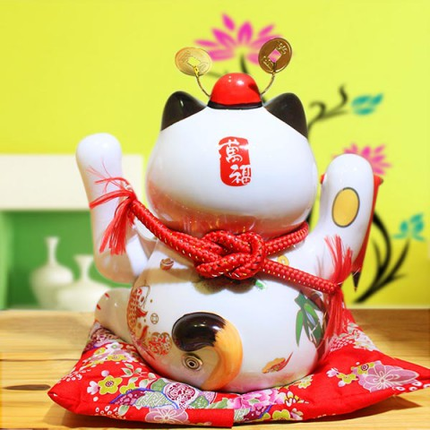 Mèo vẫy tay - Tài Lộc Tấn Tới 9002 - 24cm