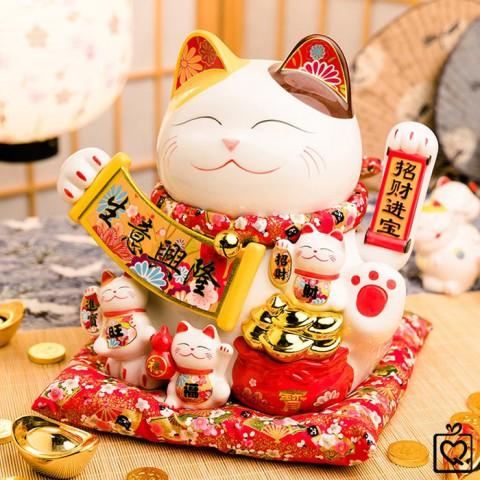 Mèo vẫy tay Tiền Tài Tấn Tới - 28cm