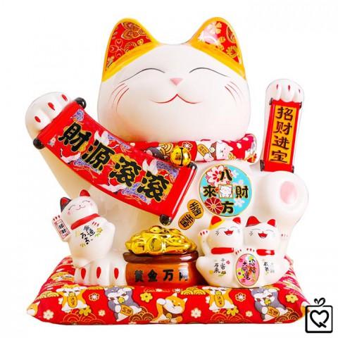 Mèo vẫy tay Tiền Vào Cuồn Cuộn - 28cm
