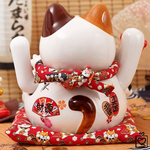 Mèo vẫy tay Vạn Tài Vạn Lộc - 28cm