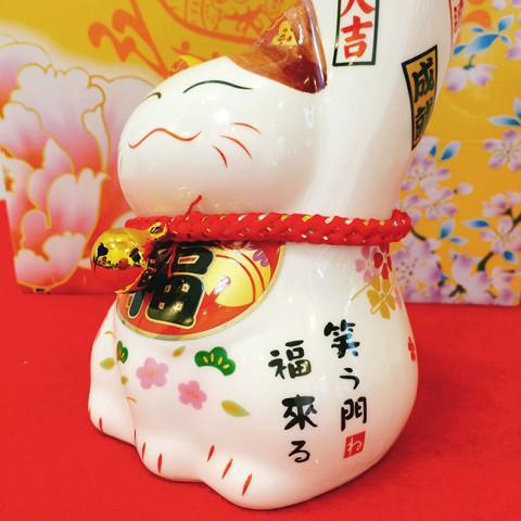Mèo thần tài tay trái lớn Kim Vận Đại Chiêu Phúc sw 447 - 20cm