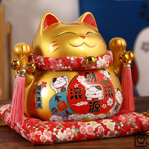 Mèo thần tài vàng Buôn May Bán Đắt