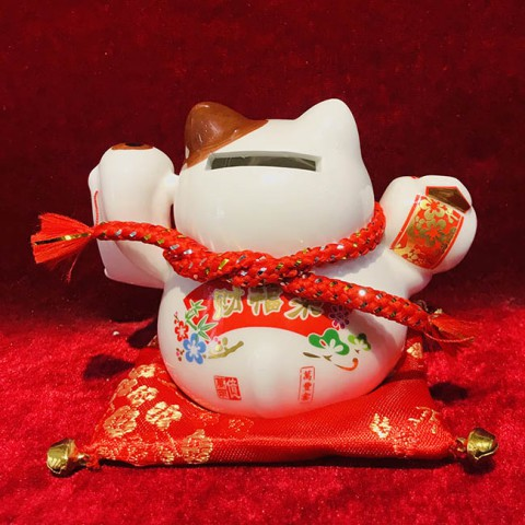 Mèo thần tài-Phú quý cát tường 40218-9cm