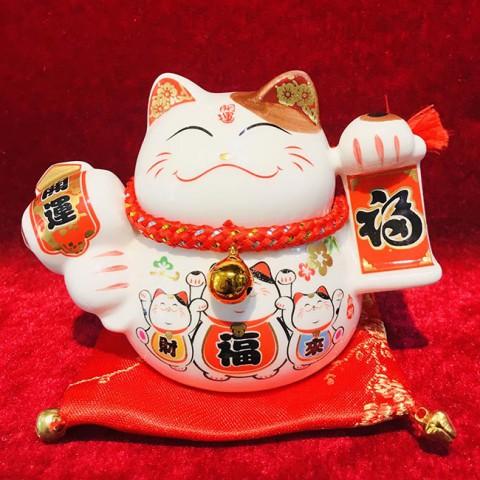 Mèo thần tài- Phúc lộc vô biên 40219-9cm