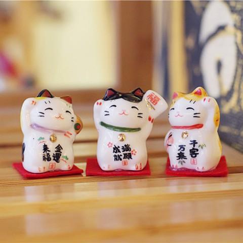 Bộ 3 mèo thần tài tí hon 3cm