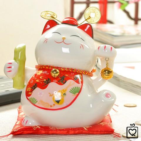 Mèo thần tài Vạn Sự Hanh Thông - 15cm