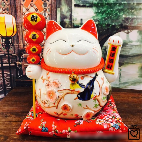 Mèo vẫy tay  -Hồ lô Phúc Lộc Vô Biên - 25cm