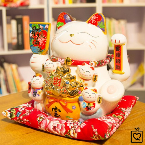 Mèo vẫy tay - Tiền vàng đầy hũ - 25cm