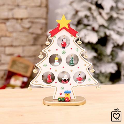 Mô hình cây thông Noel chuông vàng bằng gỗ