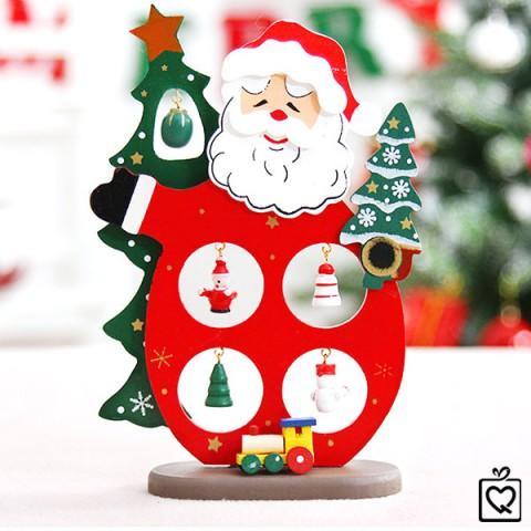 Mô hình ông già Noel gỗ