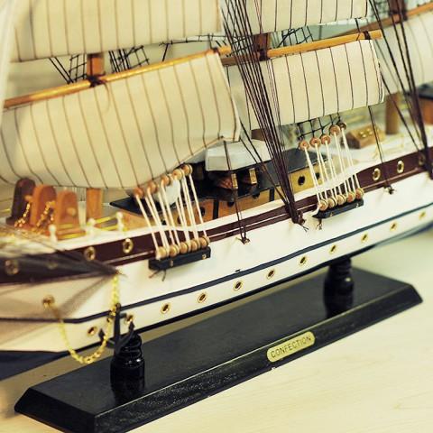 Mô hình thuyền buồm phong thủy FJ8003-80cm
