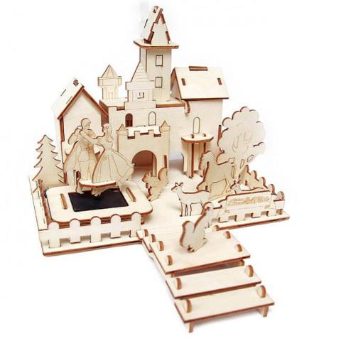 Mô hình lâu đài bằng gỗ lắp ghép