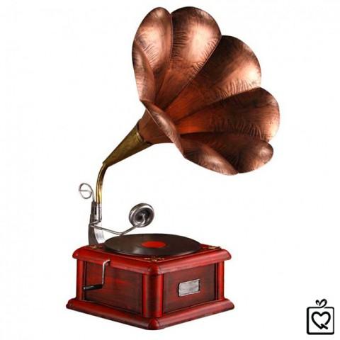 Mô hình máy hát loa kèn cổ điển