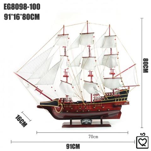 Mô hình thuyền chiến 8098 size 91cm