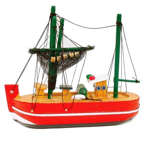 Mô hình thuyền đánh cá bằng gỗ 15cm