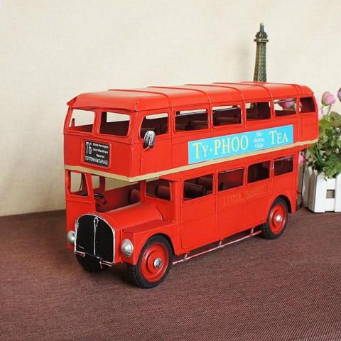 Mô hình xe bus 2 tầng kim loại