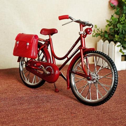 Mô hình xe đạp cổ kim loại kèm bật lửa