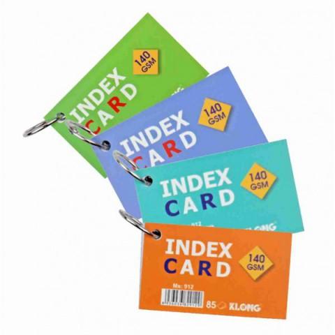 Tập thẻ Index Card A7- móc treo KLong-MS912