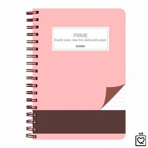 Sổ kẻ ngang lò xo kép B5 Prime KLong - 200 trang