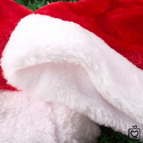 Mũ ông già Noel vải nhung