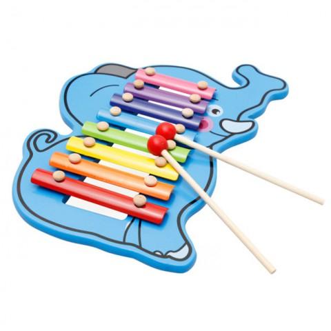 Đồ chơi gỗ nhạc cụ dân tộc hình chú voi dễ thương